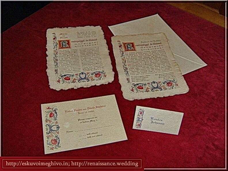 Esküvői meghívó, esküvői ültetőkártya