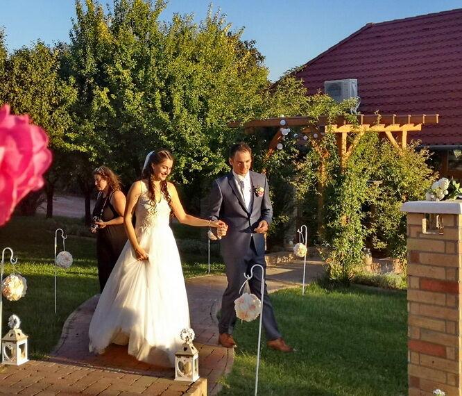 Esküvő a polgári szertartás után!